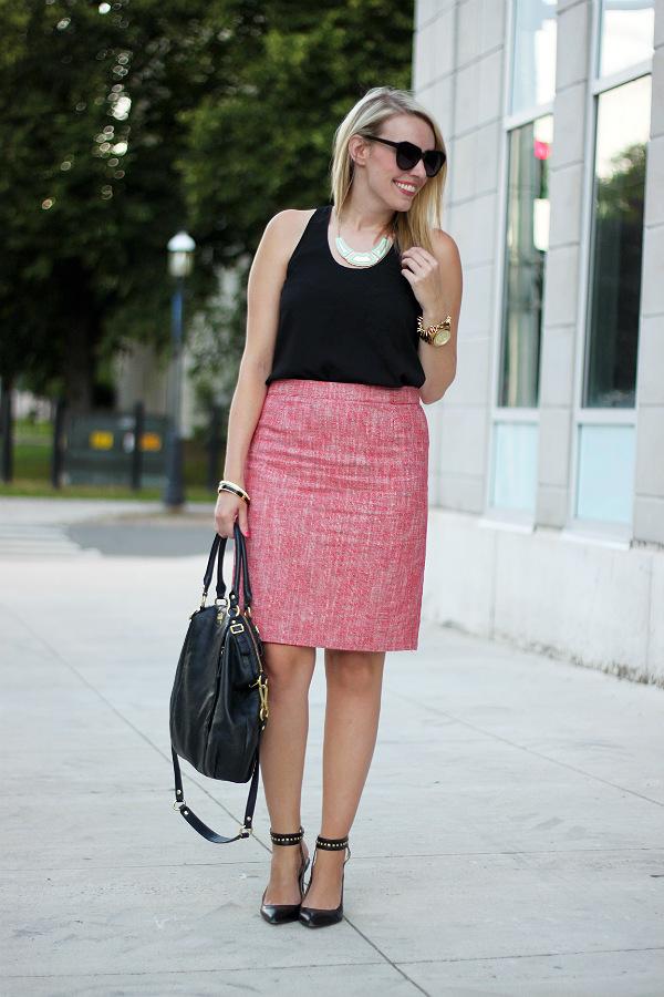 joe fresh, joe fresh outfit, joe fresh tweed skirt, alexa pope, canadian fashion blogger