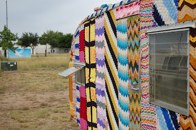 knitted caravan knit hacker colourful knitbomb diy david welch