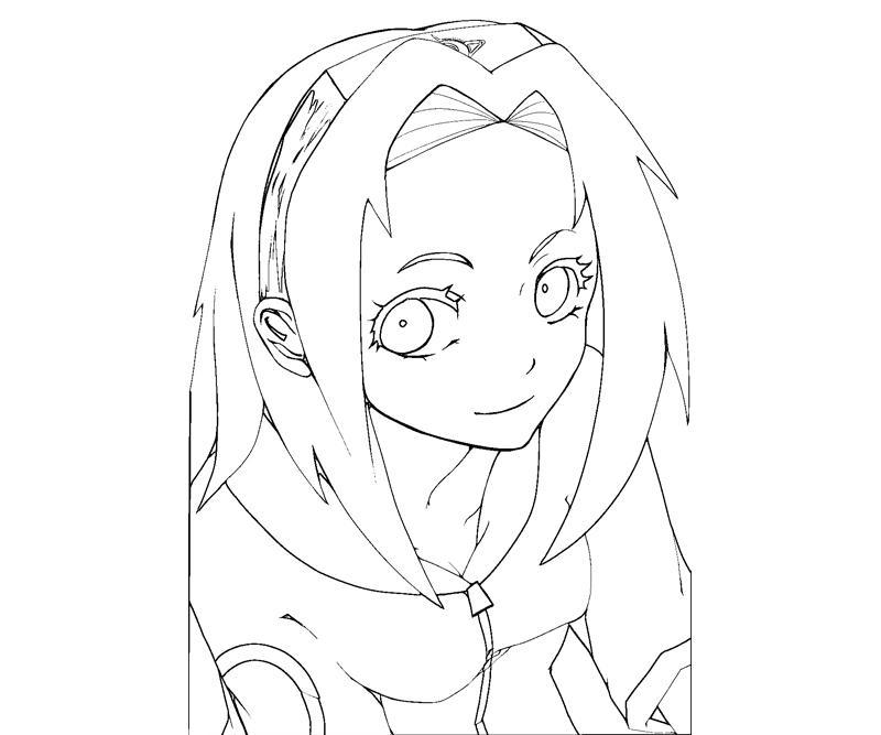 sakura haruno coloring pages - photo#22