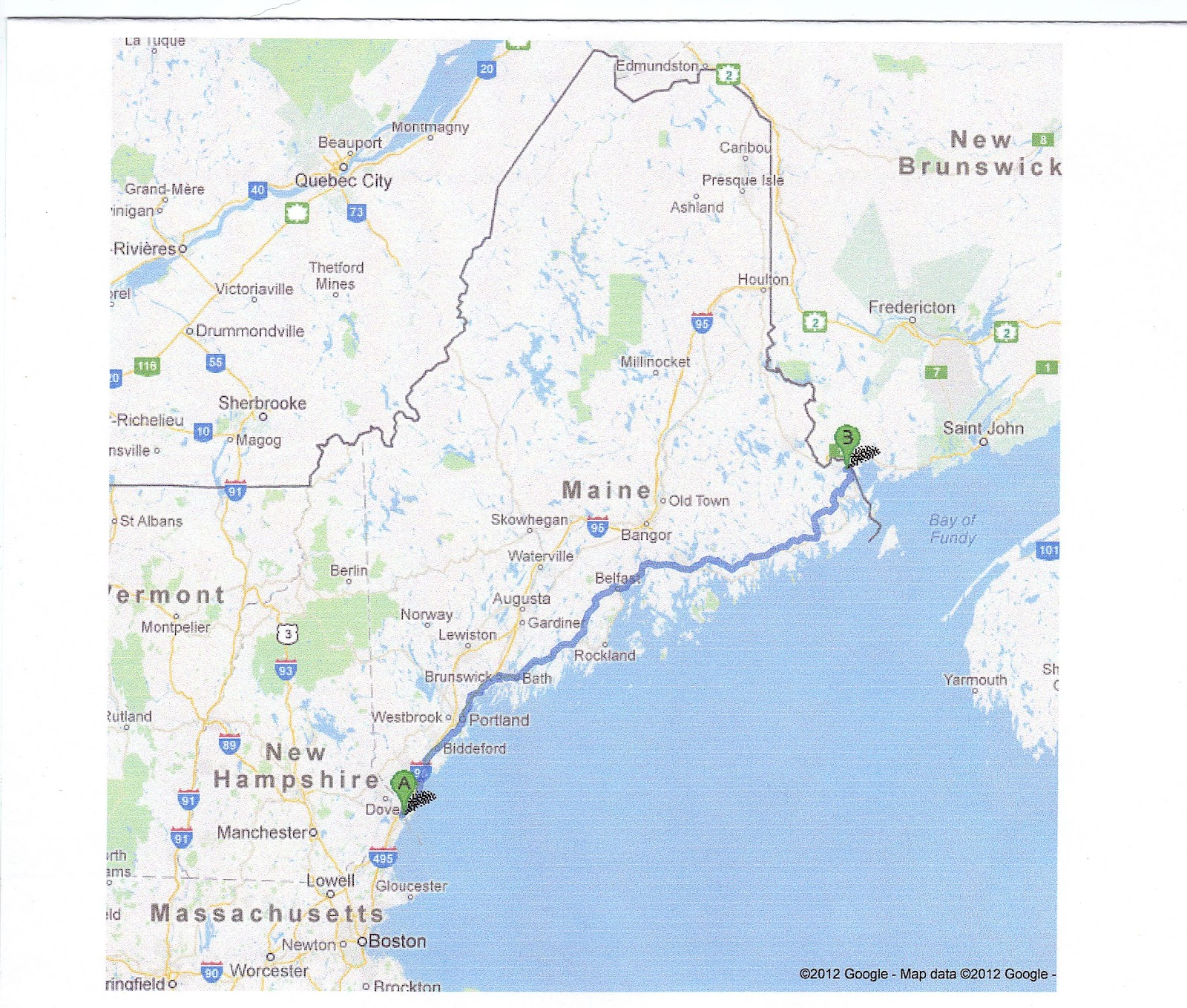 Map Of Southern Maine Coastal Pictures To Pin On Pinterest - PinsDaddy