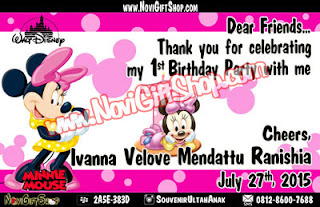 Thanks Card Minnie Mouse Sample Tema Design Thanks Card (Kartu Ucapan Terima Kasih)