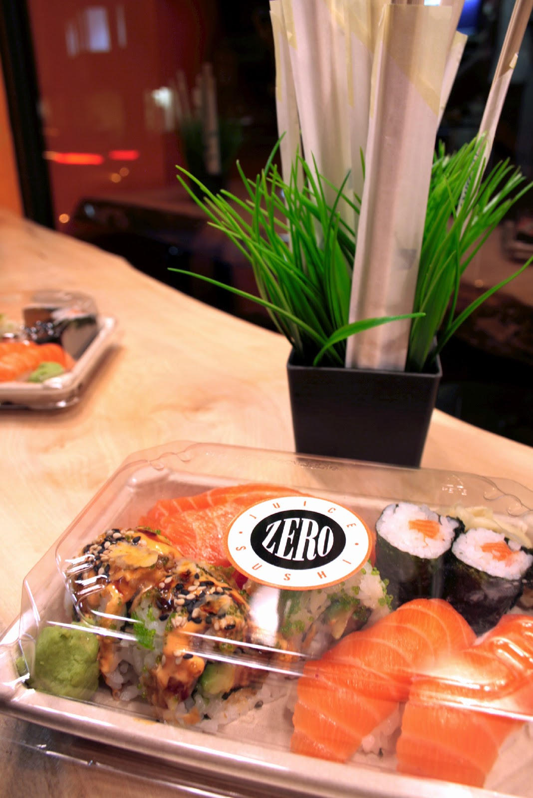 Zero sushi and juice - right in the centre of town!  They offer excellent quality sushi and fresh juice using the best quality ingredients