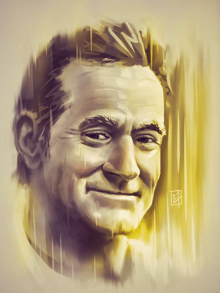 Robin Williams portrait numérique