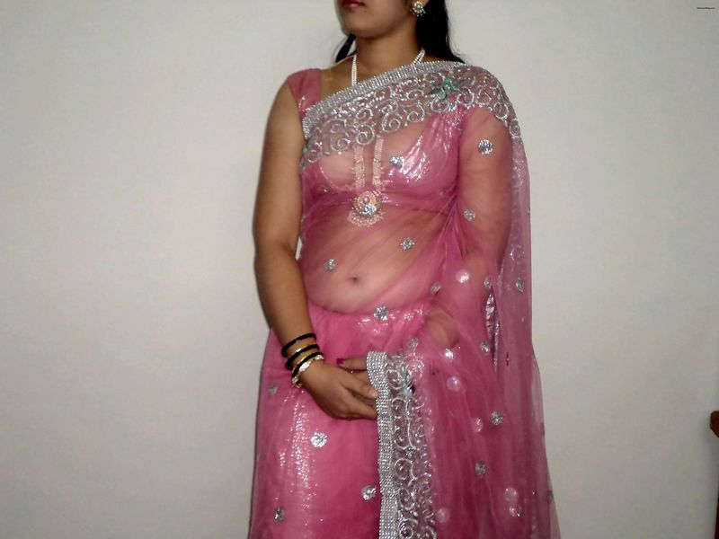 Mouth Watering Tits Cleavage Navel And Ass Curves In Transparent Saree