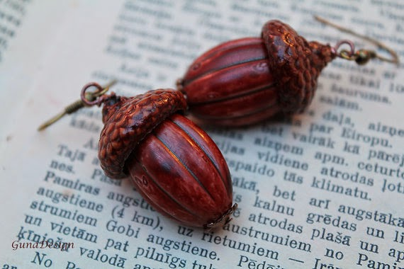 gunadesign guna andersone Acorn earrings