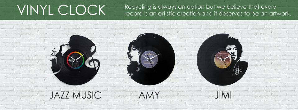 Vinyl Clock | Chic, Italian vinyl record clocks