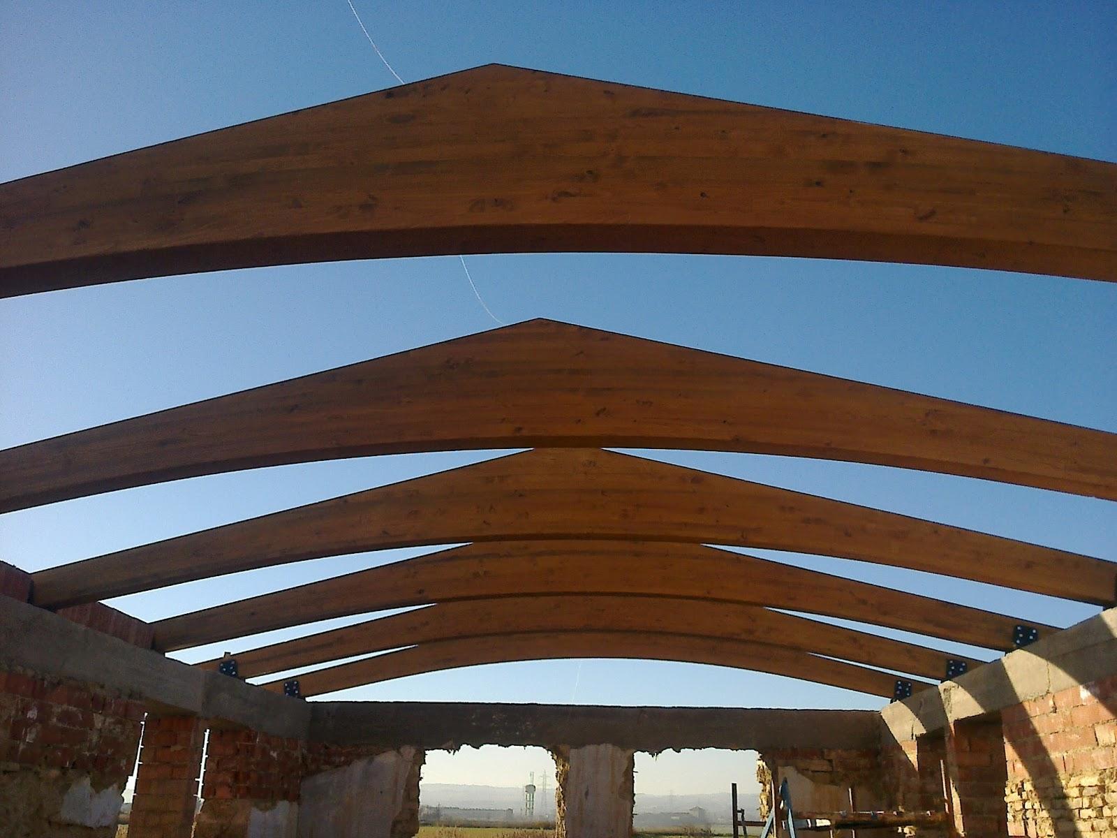 Estructuras de madera cutecma techos de madera y corcho una soluci n sostenible - Estructuras de madera para techos ...