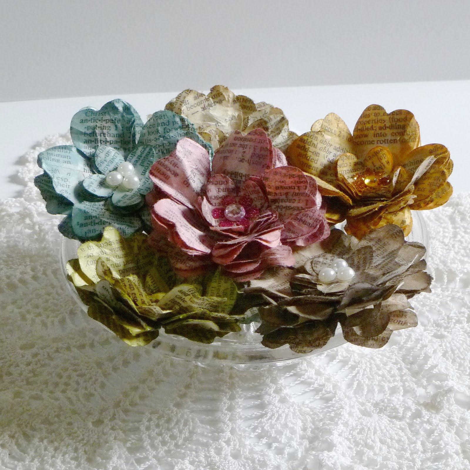 My Musings Vintage Paper Flowers