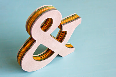 Tutorial for cardstock ampersand, standing up, but without paint