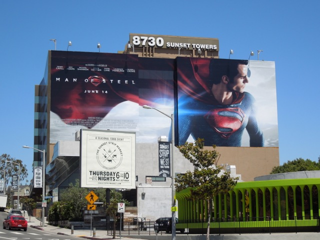 Giant Man of Steel movie billboard
