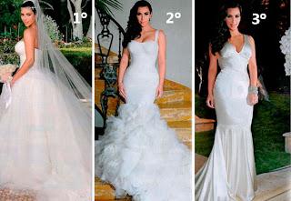 fotos de modelos de vestido de casamento de Kim Kardashian