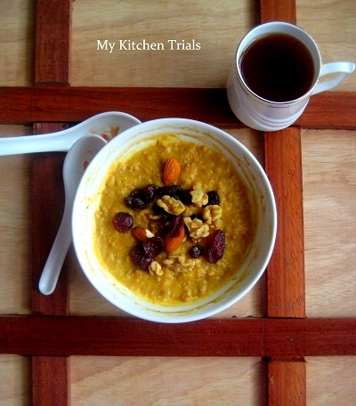 pumpkin pie oatmeal healthy microwave recipe