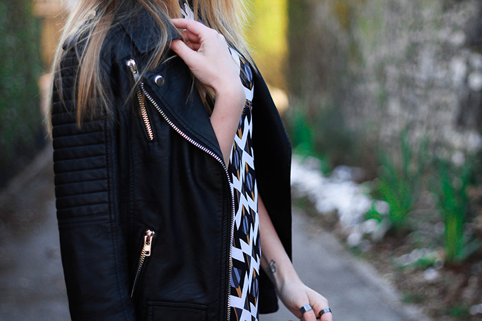 leather jacket dress