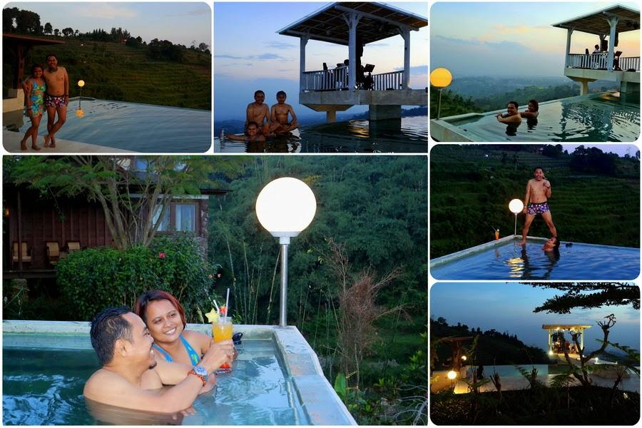 Berenang di Infinity Pool Lembang Bandung