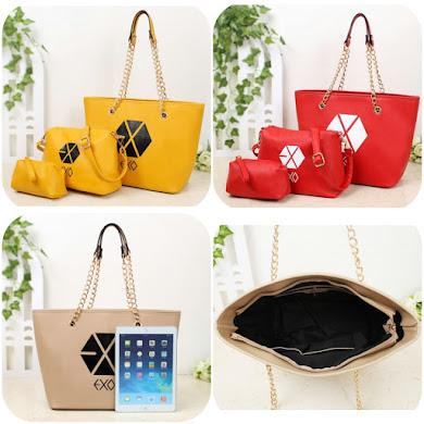 K-POP STYLE BAG - RED , YELLOW