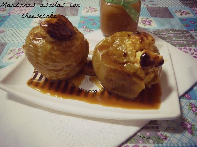 Manzanas Al Horno Con Cheesecake