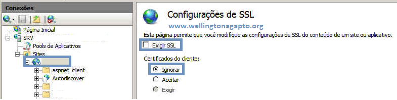 Simplificando o acesso ao OWA do Exchange 2007 redirecionando chamadas http para https no IIS 7 / Widows Server 2008
