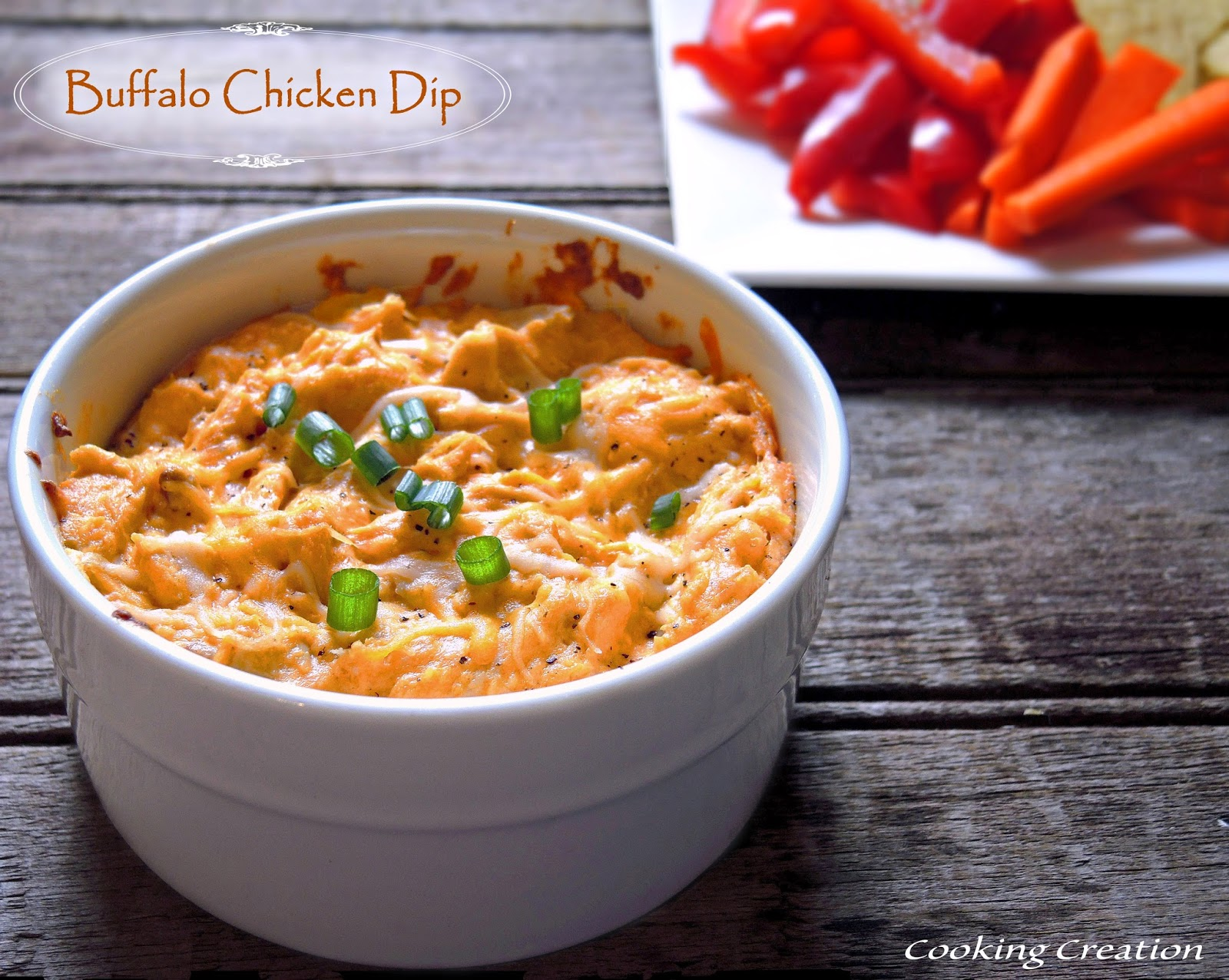 Cooking Creation: Buffalo Chicken Dip