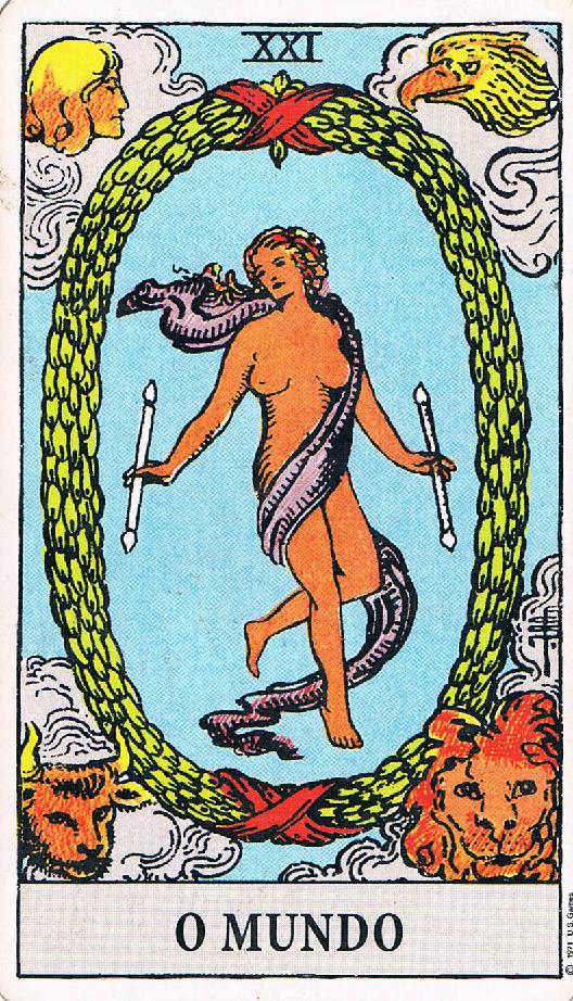 Resultado de imagem para carta do tarot o mundo
