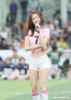 Im Yoona Korean Cute Girl Singer Sexy Photo at Namyangju Central Football Game 23