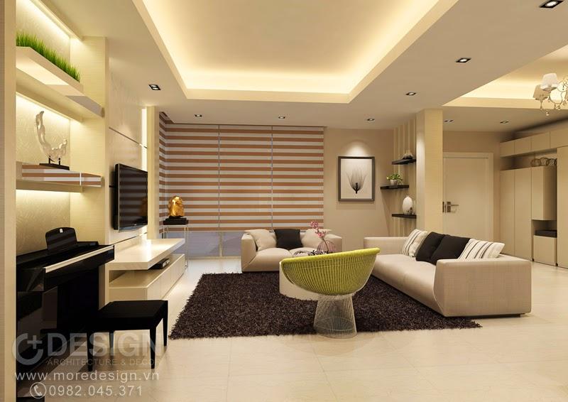 Nội thất phòng khách đơn giản - sang trọng
