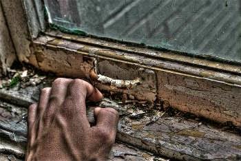 samotność, nieśmiałość, wyjście, okno, człowiek