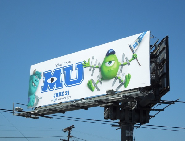 Monsters University billboard