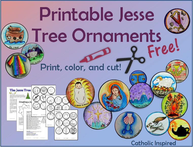 image about Jesse Tree Ornaments Printable called Printable Jesse Tree Ornaments! No cost and Straightforward! - Catholic