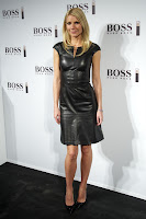 Gwyneth Paltrow leggy in a leather dress