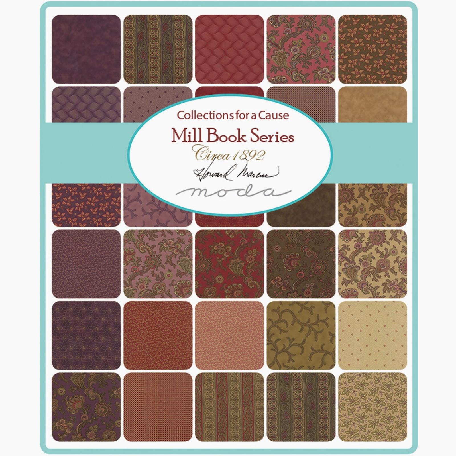 Moda MILL BOOK SERIES CIRCA 1892 Fabric by Howard Marcus for Moda Fabrics