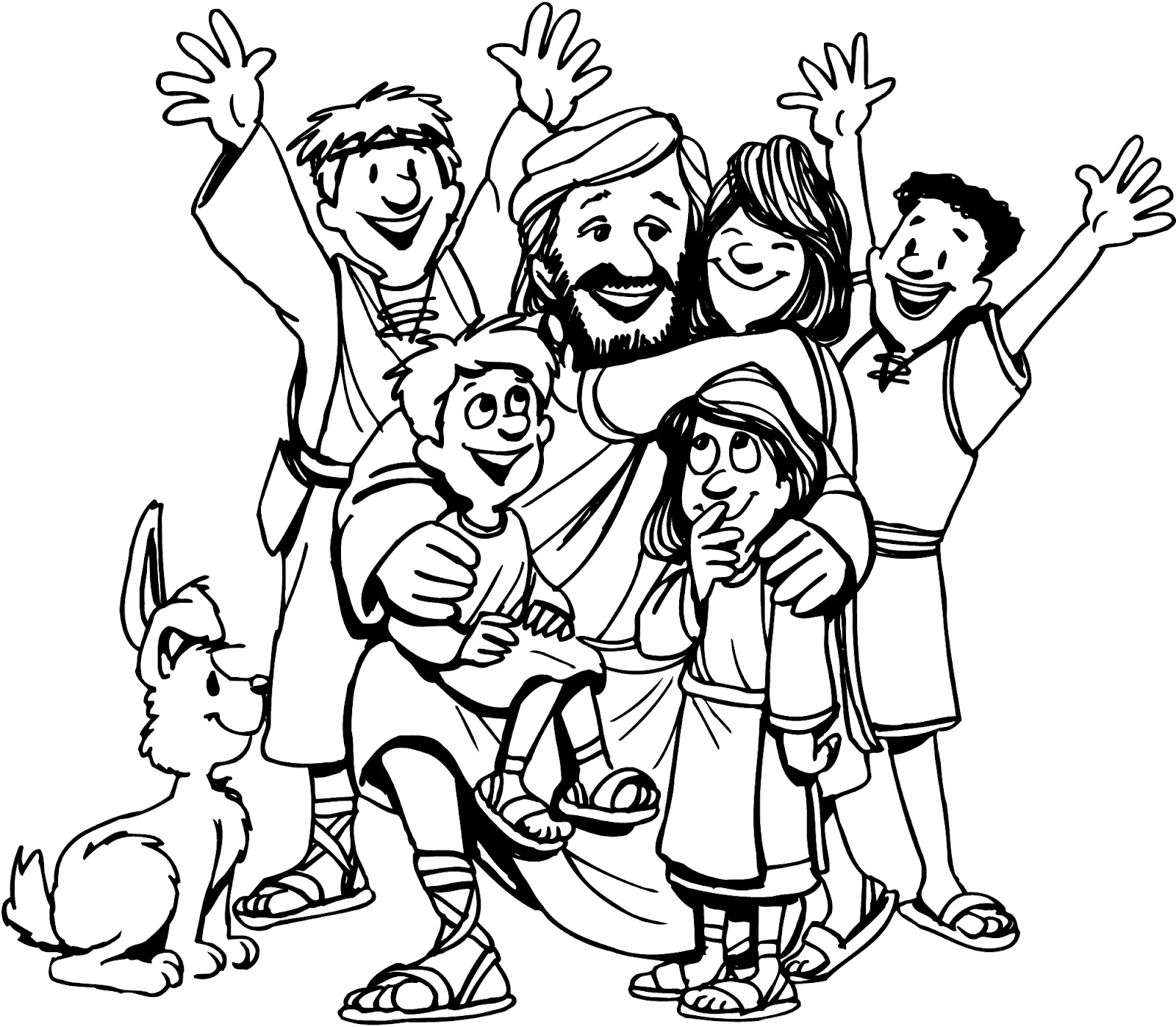 christian family coloring pages - photo#13