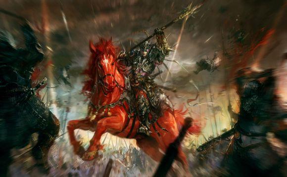 HongWen xaeroaaa deviantart ilustrações fantasia ficção científica Cavaleiro