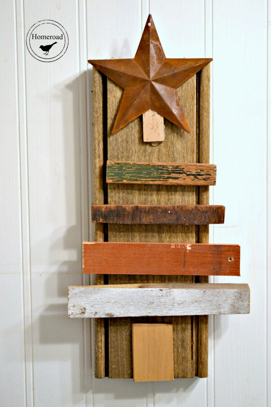 scrap wood christmas tree www.homeroad.net