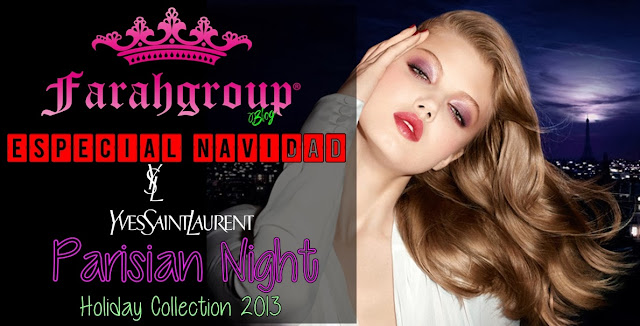 yves saint laurent, parisian night, navidad, makeup