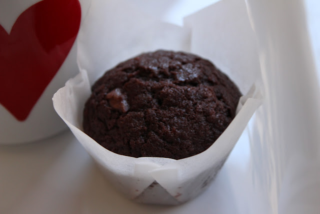 chocolate and raspberry muffins