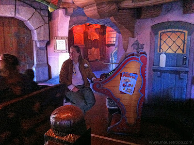 Pinocchio's Daring Journey dark ride Disneyland Fantasyland