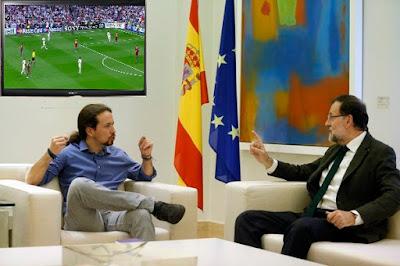 Memes encuentro Rajoy y Pablo Iglesias