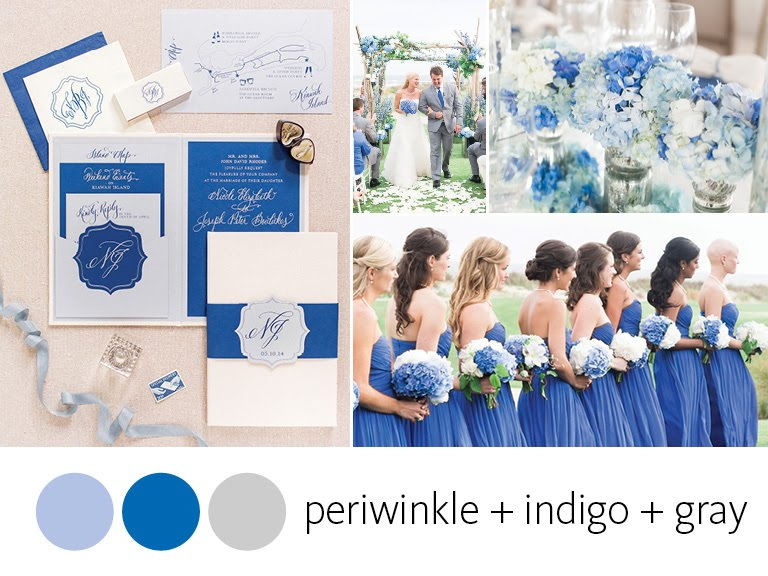 Color Crush: Periwinkle, Indigo Blue and Gray