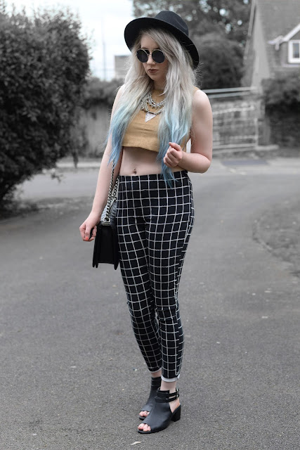 Sammi Jackson - Fux Suede + Checked Trousers