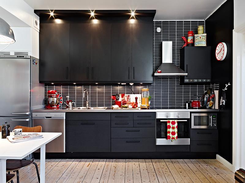 Paikka maailmassa Upea musta keittiö