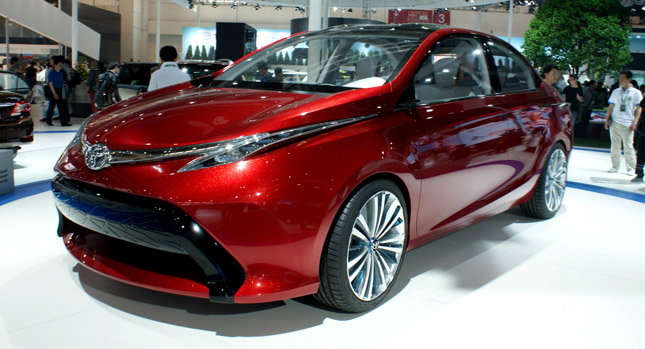 The concept car unveiled at the motor show. The front part very