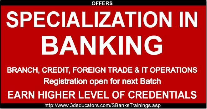 Specialization In Banking