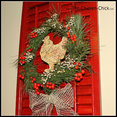 Holiday Shutter via The Chicken Chick®