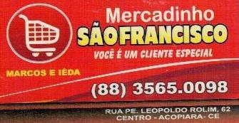 Mercadinho São Francisco, em Acopiara