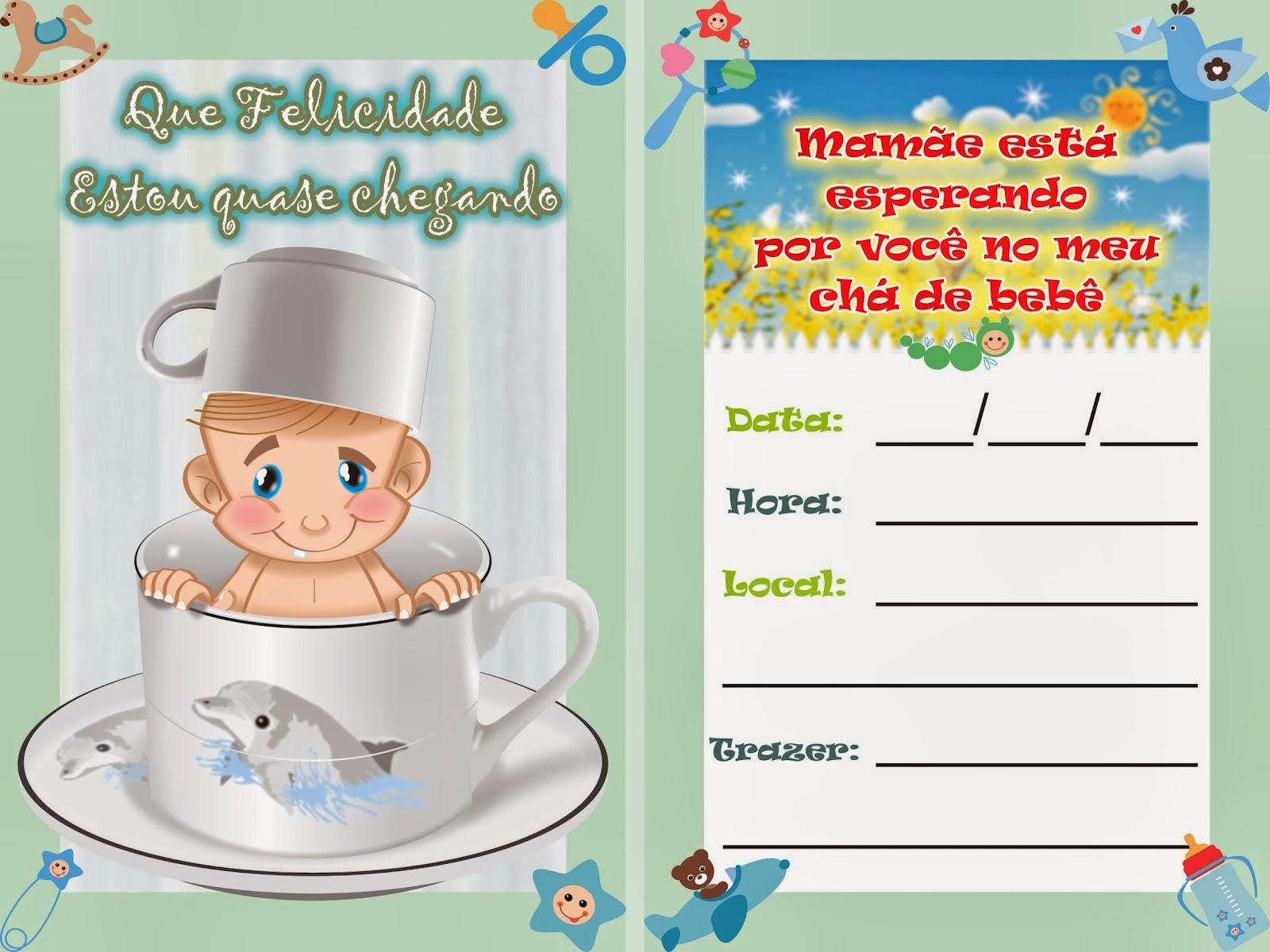 Como fazer convite para chá de bebê 16