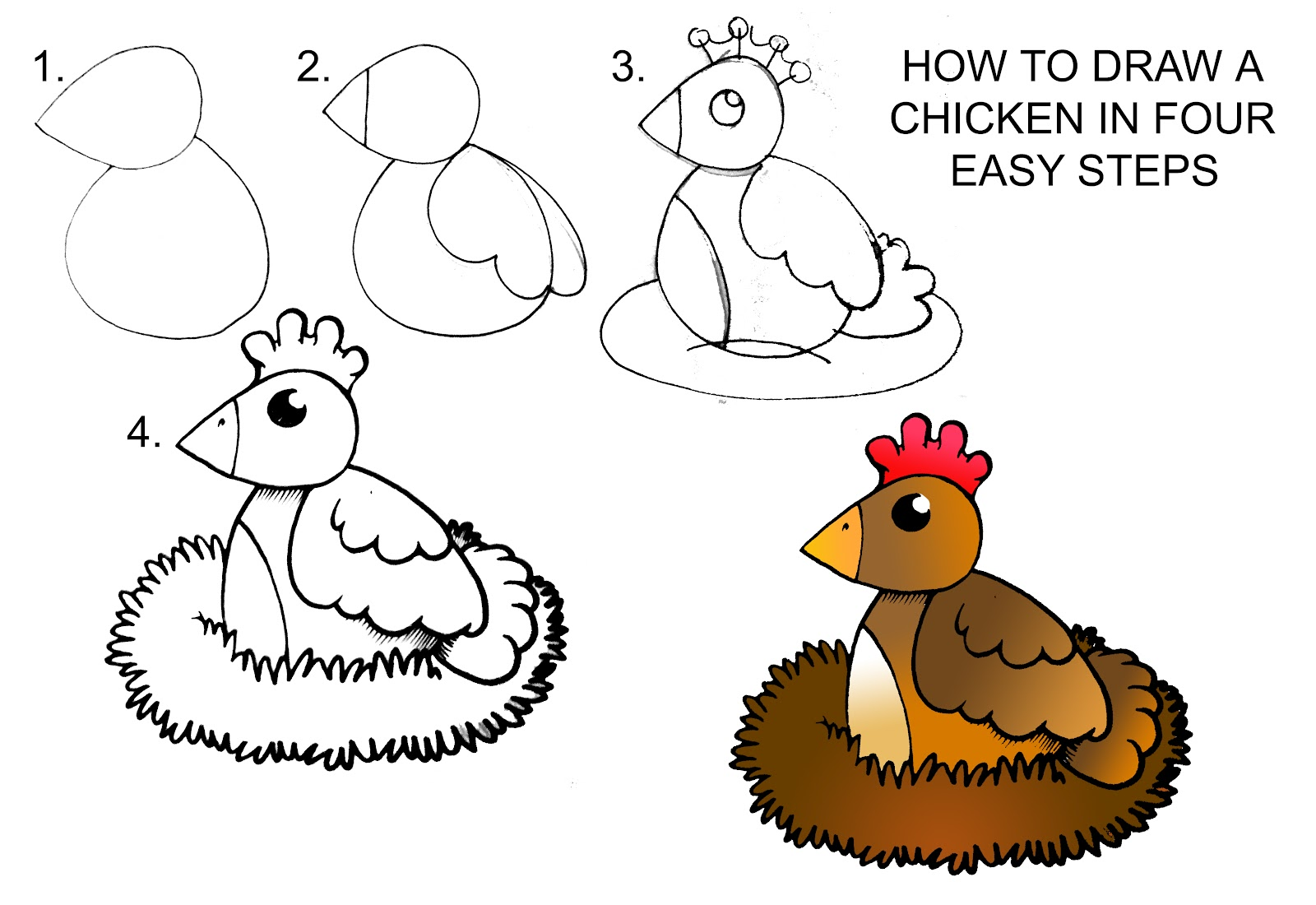 Uncategorized How To Draw A Chicken Step By Step how to draw a chicken step by daryl hobson artwork step