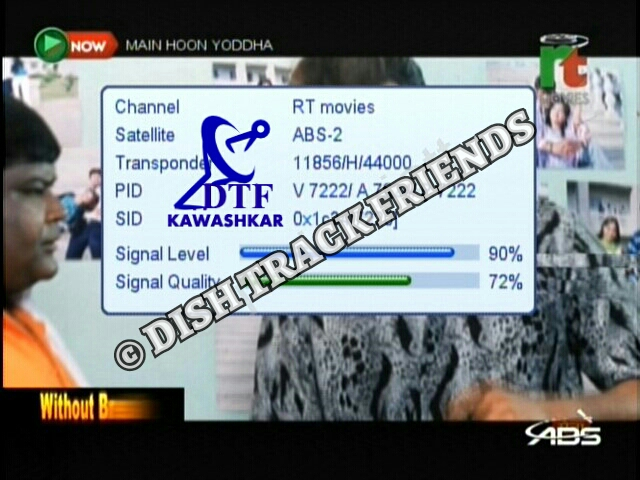 Rt Movies New Channel Started Test Transmission On Abs 2 750 Deg