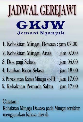 Jadwal Kebaktian GKJW Nganjuk