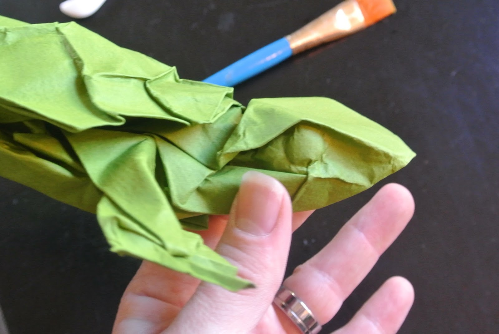 the midnight carver wet folding cardstock origami turtle