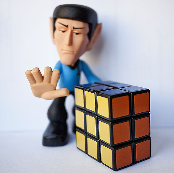 Rubik Domino Cube Spock Star Trek